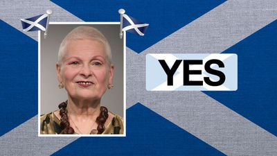 """Vivienne Westwood, designer: """"I hate England … I like Scotland because somehow I think they are better than we are."""""""