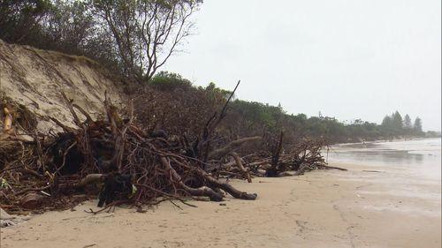 Coastal erosion at Byron Bay on the NSW far north coast.