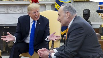 Donald Trump threatened to shut down the government over border funding during a heated exchange with Senator Chuck Schumer.