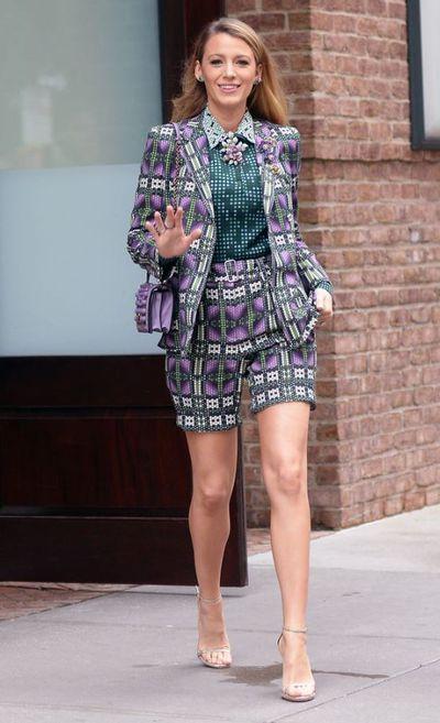 Blake Lively wearing Bottega Venetta in New York, August, 2018