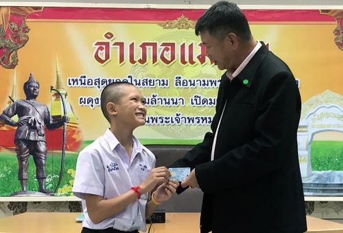 Thailand has granted citizenship to three of the 12 boys flooded into a cave last month, along with their 25-year-old coach. Picture: AAP