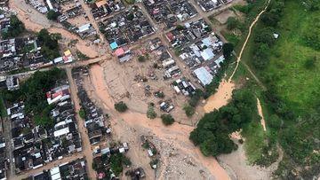 Heavy rain caused massive mudslides in Mocoa, Colombia. (AFP)