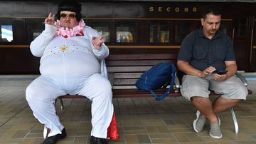 Revellers head to iconic Elvis festival to celebrate The King