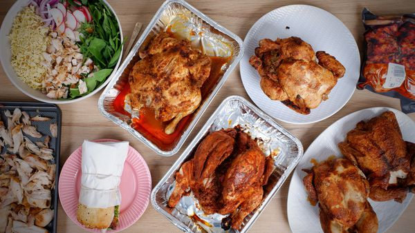 All the best BBQ chickens at the shops