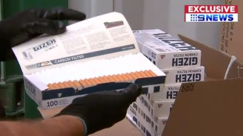 In the last financial year, 129 tonnes of illicit tobacco have been seized. (9NEWS)