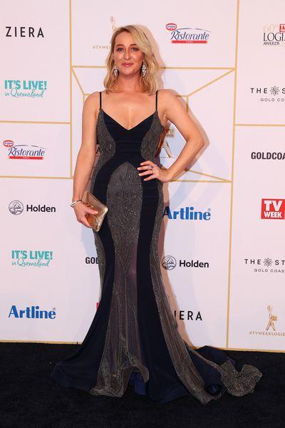 Actress Asher Keddie at the 2018 Loge Awards