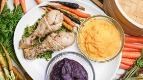 Family Food Fight: The Alatini's Smoked Chicken with Caramelised Carrots and Carrot Puree