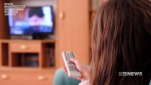 There are calls to halt alcohol advertising on television during children's hours.