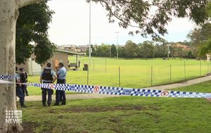 Two arrested over stabbing after footy game at Sydney sports ground