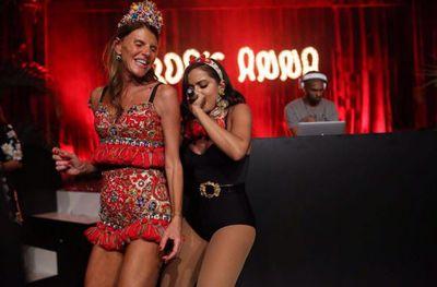 Fashion editor Anna Dello Russo and singer Anitta