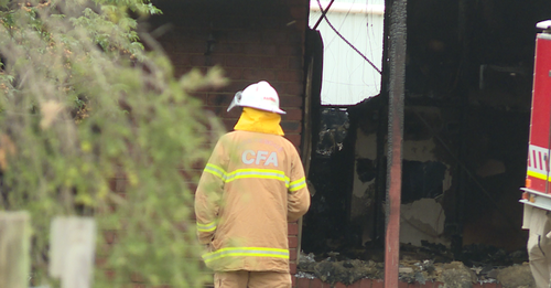 One man has died in a house fire outside of Shepparton.