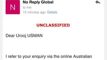 An email received by Danish Ghori and his wife Urooj Usman mistakenly telling them they had been granted a travel exemption.