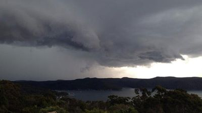 Grey clouds cover Pittwater. (Terry Herfort)