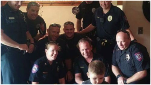 Police organise birthday surprise for US toddler with autism