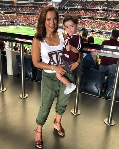 Mireya Villarreal and her three-year-old son