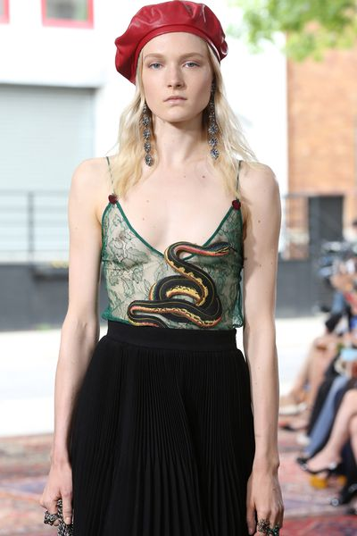 Snakes, lions, birds, insects... Gucci Cruise 2016 was a party to which almost every species was invited.