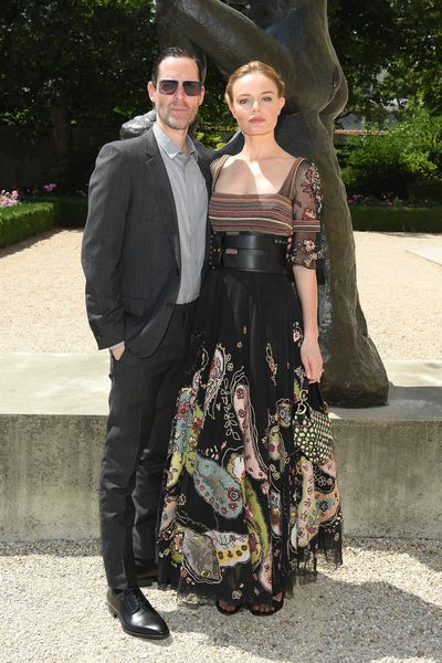 Actress Kate Bosworth and husband Michael Polish at Christian Dior Haute Couture  A/W 18/19 show in Paris, July 2018