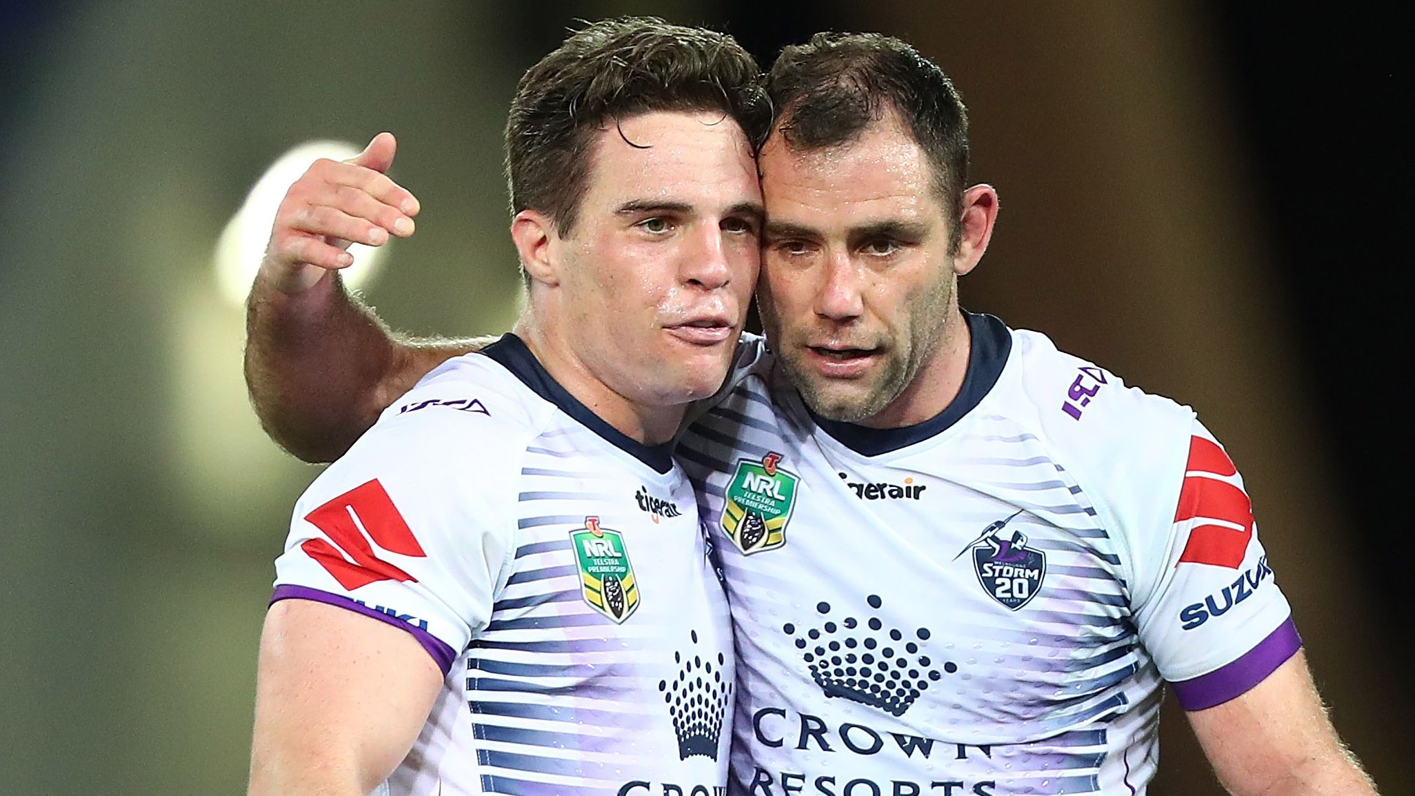 Brodie Croft and Cameron Smith