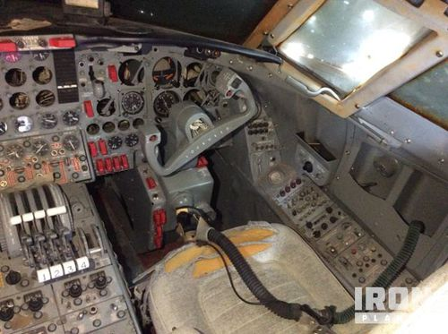 Photos show damage to the interior of the craft. (IronPlanet)