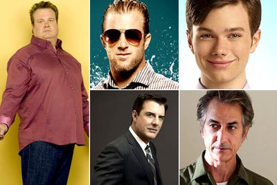 Eric Stonestreet &mdash; <I>Modern Family</I><br/>Scott Caan &mdash; <I>Hawaii Five-O</I><br/>Chris Colfer &mdash; <I>Glee</I><br/>Chris Noth &mdash; <I>The Good Wife</I><br/>David Strathairn &mdash; <I>Temple Grandin</I><br/><br/><b>TVFIX prediction:</b> Again, it's really tough to call this one. So, what the heck: it'll be Eric Stonestreet. He's pretty rad.