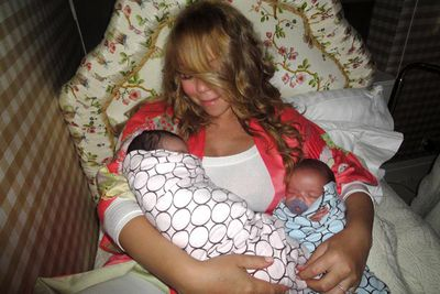 <b>Parents:</b> Mariah Carey and Nick Cannon<p><br/>On their third anniversary Carey and Cannon welcomed twins, a boy and a girl.