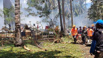 Philippine Air Force plane crash death toll rises to 50