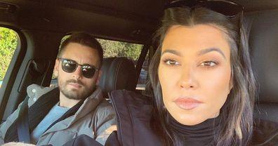 Kourtney Kardashian and ex Scott Disick.