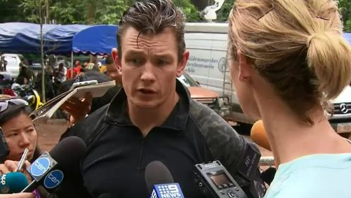 AFP officer Matt Fitzgerald is one of the Australian contingent on the ground helping the mission. Picture: 9NEWS