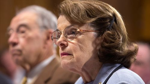 "California Senator Dianne Feinstein, the top Democrat on the Senate Judiciary Committee, tweeted that Mr Trump's blocking the memo is ""hypocrisy at its worst"". (AAP)"