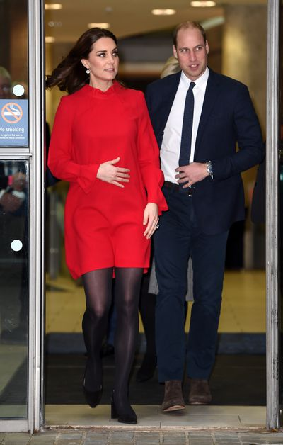 Duchess of Cambridge Kate Middleton in the 'Elodie' dress from Goat at theChildren's Global Media Summit at the Manchester Central Conventionon December 6, 2017