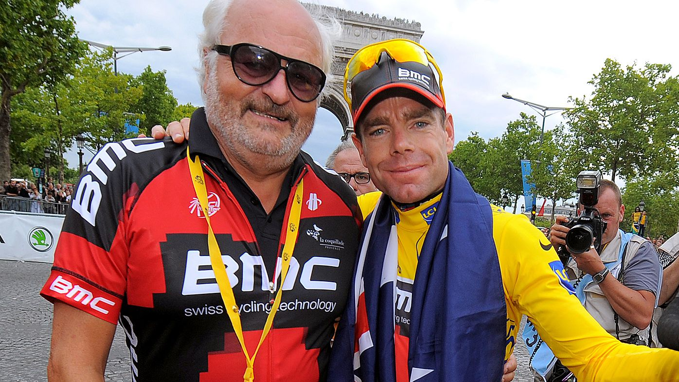 Cadel Evans and Andy Rihs