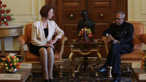 Julia Gillard and Pranab Mukherjee