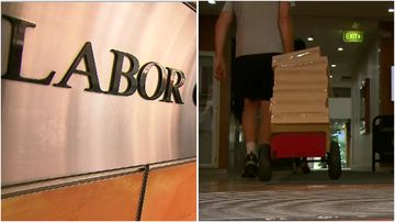 ICAC officers have spent the morning collecting boxes from the NSW Labor Party's Sydney offices.