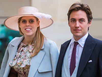 The couple at the wedding of Prince Napoleon Countess