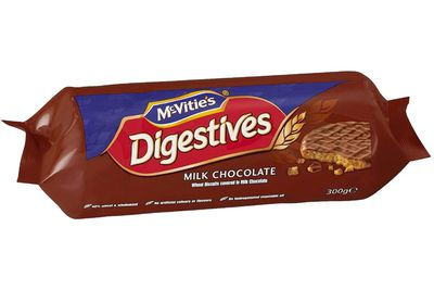 A little over 1 McVitie's Digestive Milk Chocolate biscuits is 100 calories