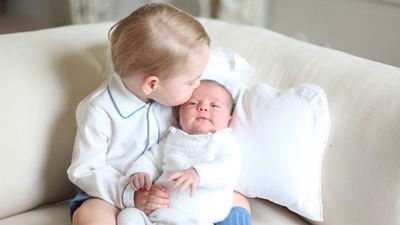 Princess Charlotte and Prince George, June 2015