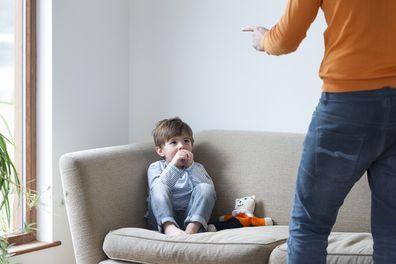 Man yelling at child