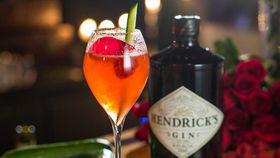 Hendrick's raspberry royale