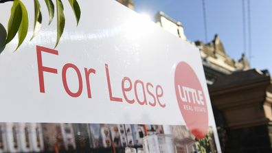 Signage for a real estate property is seen in Carlton North, Melbourne, Wednesday, July 18, 2018. (AAP Image/James Ross) NO ARCHIVING