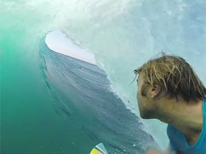 Andrew Walsh inside one of his five barrels. (Supplied)