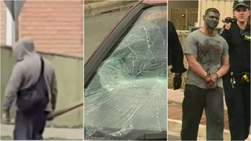 A man is in custody after allegedly going on a violent rampage through a quiet street in Adelaide's northeast.