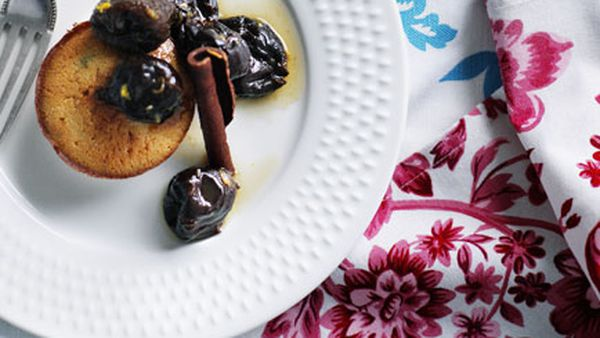 Shane Osborn: Agen prunes with thyme financières and orange and Cognac Chantilly