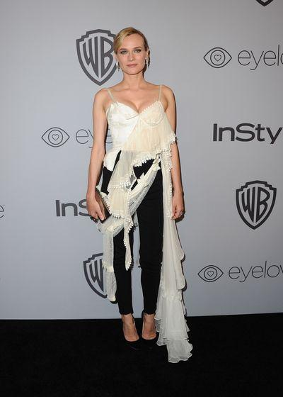 Actress Diane Kruger in Alexander McQueen