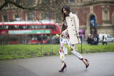 Doina Ciobanu is an Erdem suit fan.