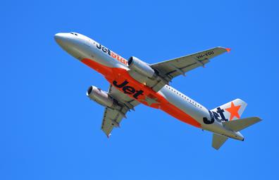 Jetstar planes take off