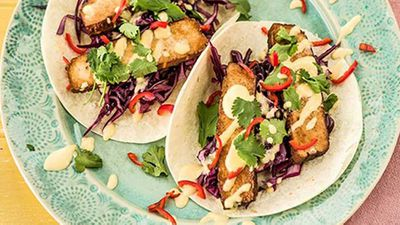 "<a href=""http://kitchen.nine.com.au/2017/05/31/14/09/spicy-tofu-tacos-with-mango-mayonnaise"" target=""_top"">Spicy tofu tacos with mango mayonnaise</a> recipe"