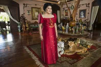 Imelda Marcos on her 85th birthday in THE KINGMAKER. Photo Credit: Lauren Greenfield.