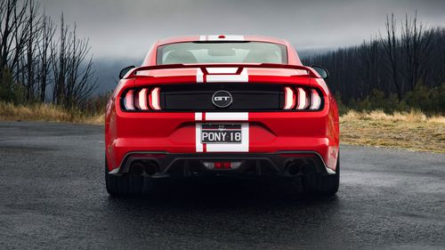 The Mustang wins the numbers game on torque and displacement.
