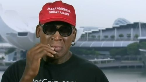 Former NBA star Dennis Rodman openly cried on television in a bizarre meltdown over the US-North Korea summit. (CNN)