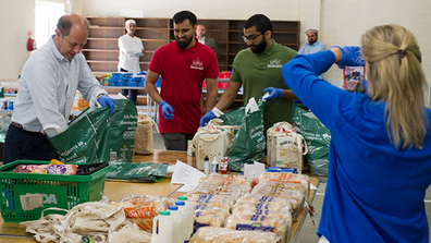 The royals have been volunteering throughout the coronavirus crisis.